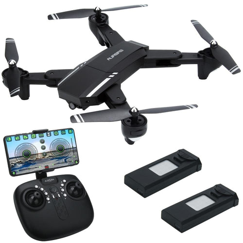 2018 INKPOT Q39 Foldable APP Control RC Drone With 2.0MP HD FPV Camera Quadcopter Professional  LED Selfie Dron 3 Batteries