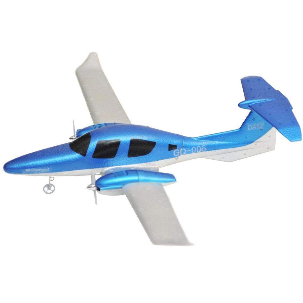 RC Airplane DIY EPP Rubber 2.4ghz Fixed Wing Remote Control Airplanes GD006 Remote Controlled Glider With Light For Kids Toys ht