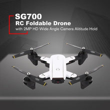 SG700 2.4G RC Foldable Drone Quadcopter with FPV 720P Wide Angle Camera Altitude Hold Headless Mode Remote Control Toy HOT! z