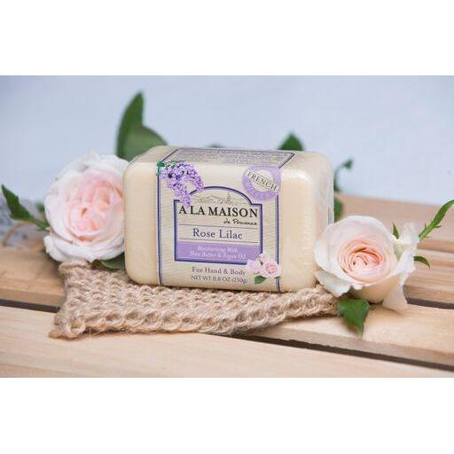 A La Maison Rose Lilac Bar Soap 8.8 oz