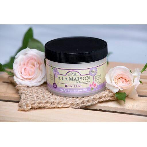 A La Maison Rose Lilac Body Butter Souffle 8 oz
