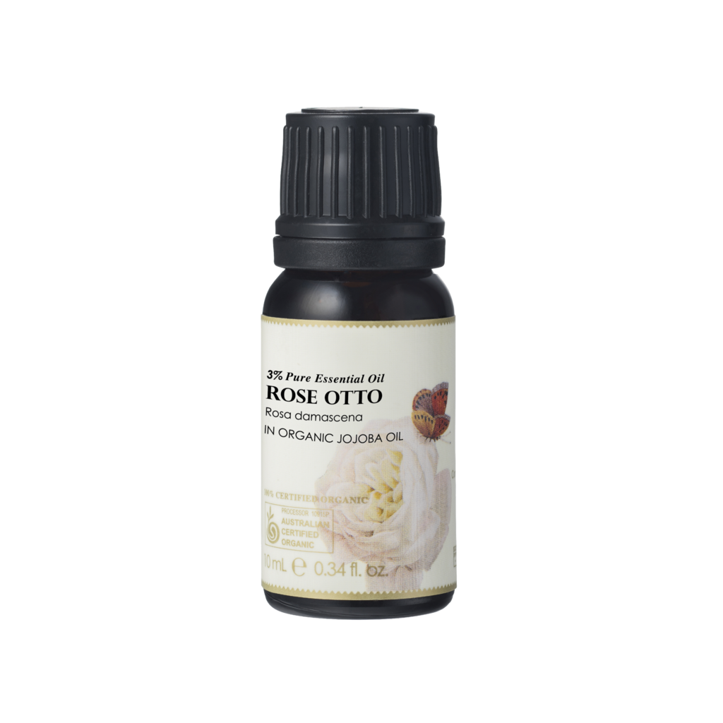 Ausganica 100% Certified Organic 3% Rose Otto Essential Oil 10ml