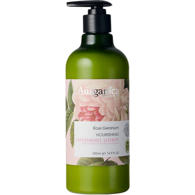 Ausganica Rose Geranium Nourishing Hand & Body Lotion 500ml