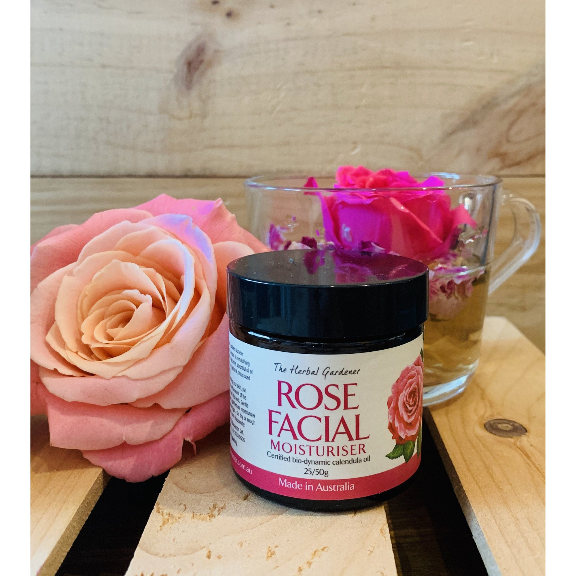 The Herbal Gardener Rose Facial Moisturiser 25g