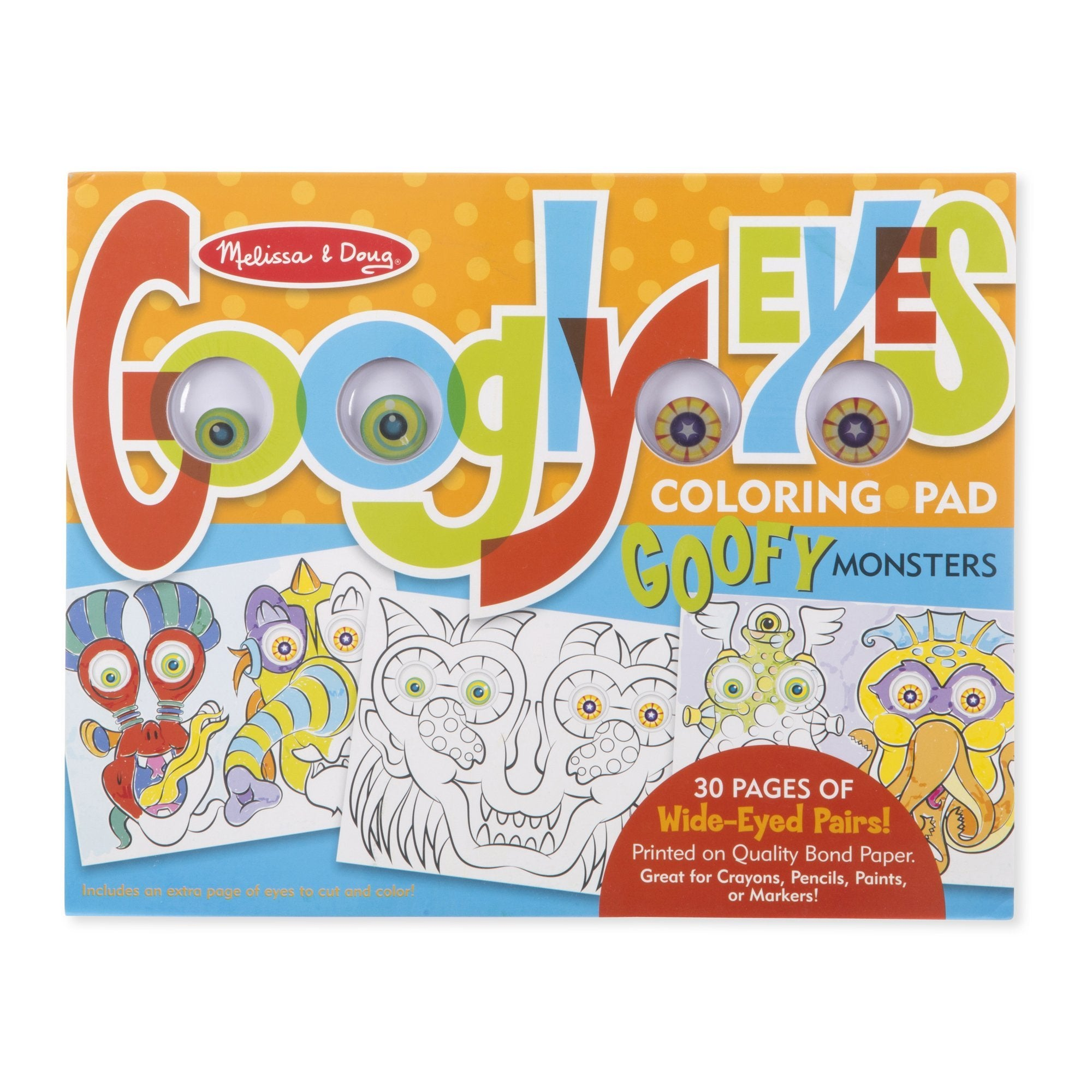 Monsters- Googly Eyes Coloring Pad