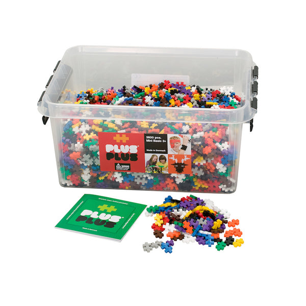 Plus-Plus - 3600 pc Basic Colors in Tub