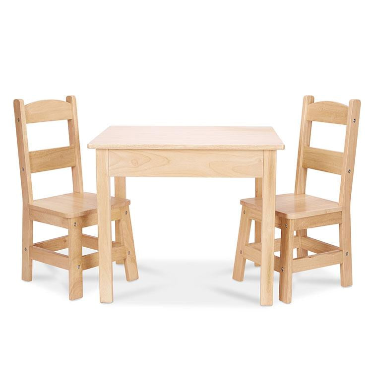 Wooden Table & Chairs - Natural