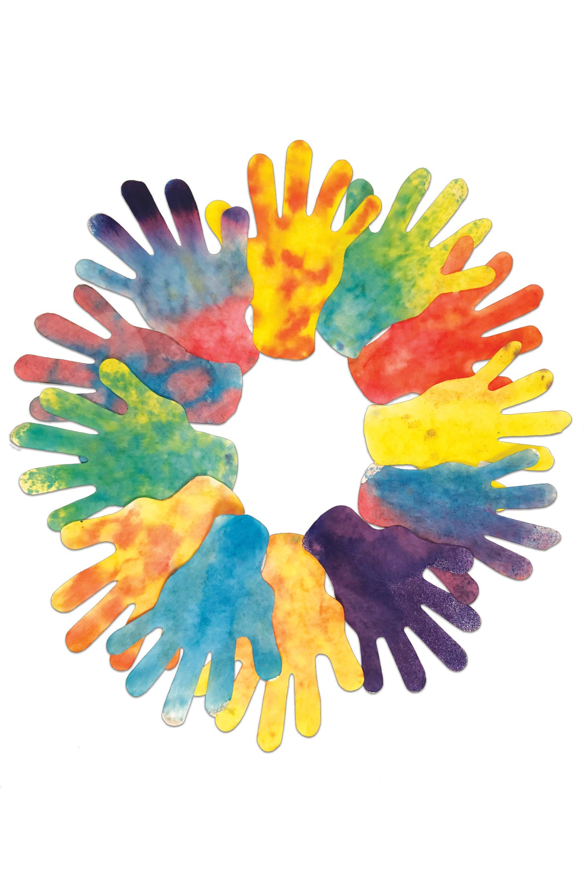 Roylco® Color Diffusing Paper Hands