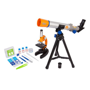 Discovery Telescope & Microscope Combo Set with Case