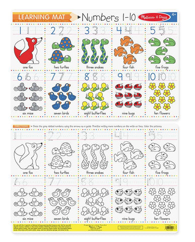 Numbers 1-10 Write-A-Mat (Bundle of 6)
