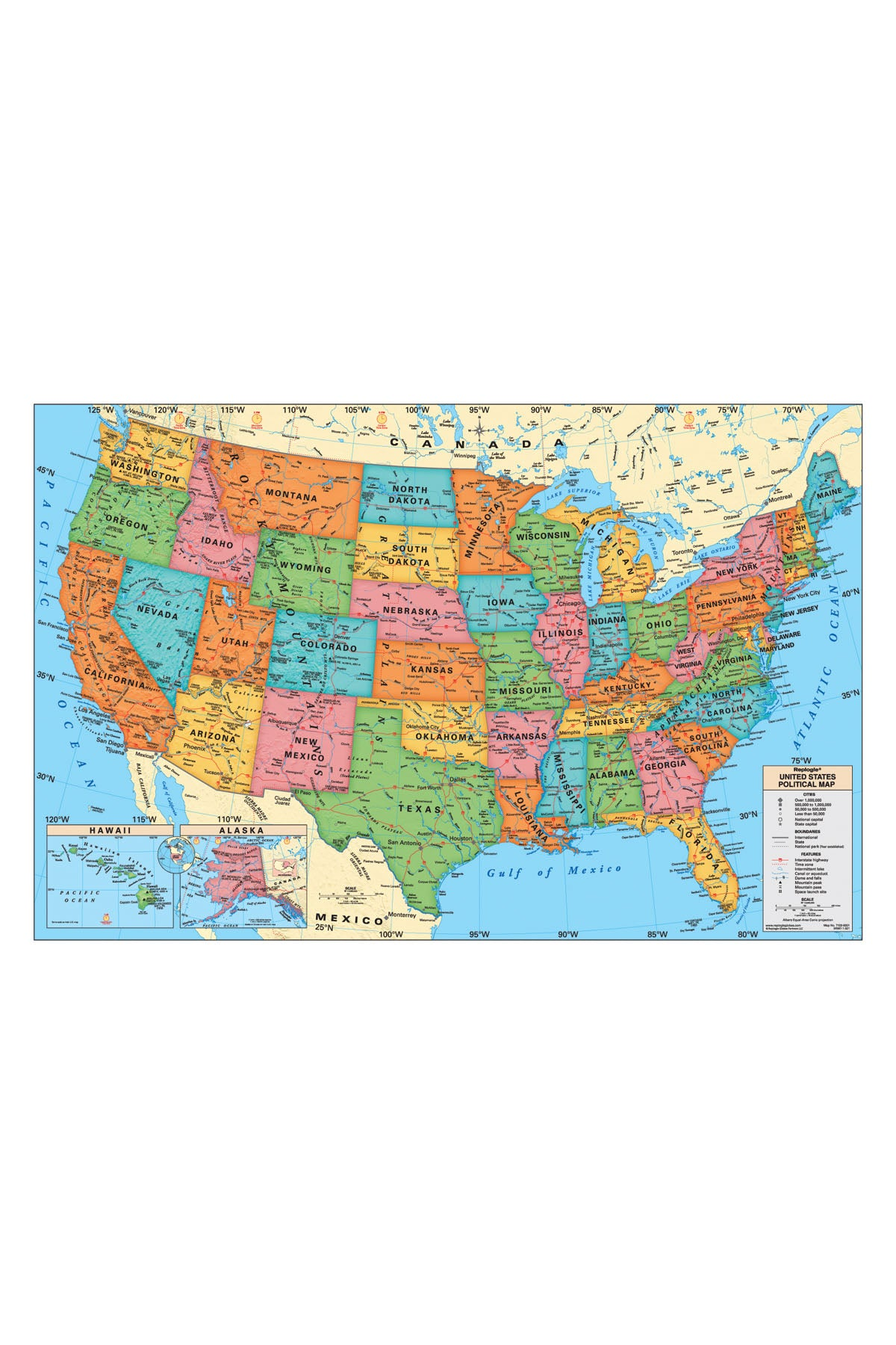 Usa Wall Map - Laminated