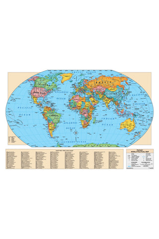 World Wall Map -Laminated