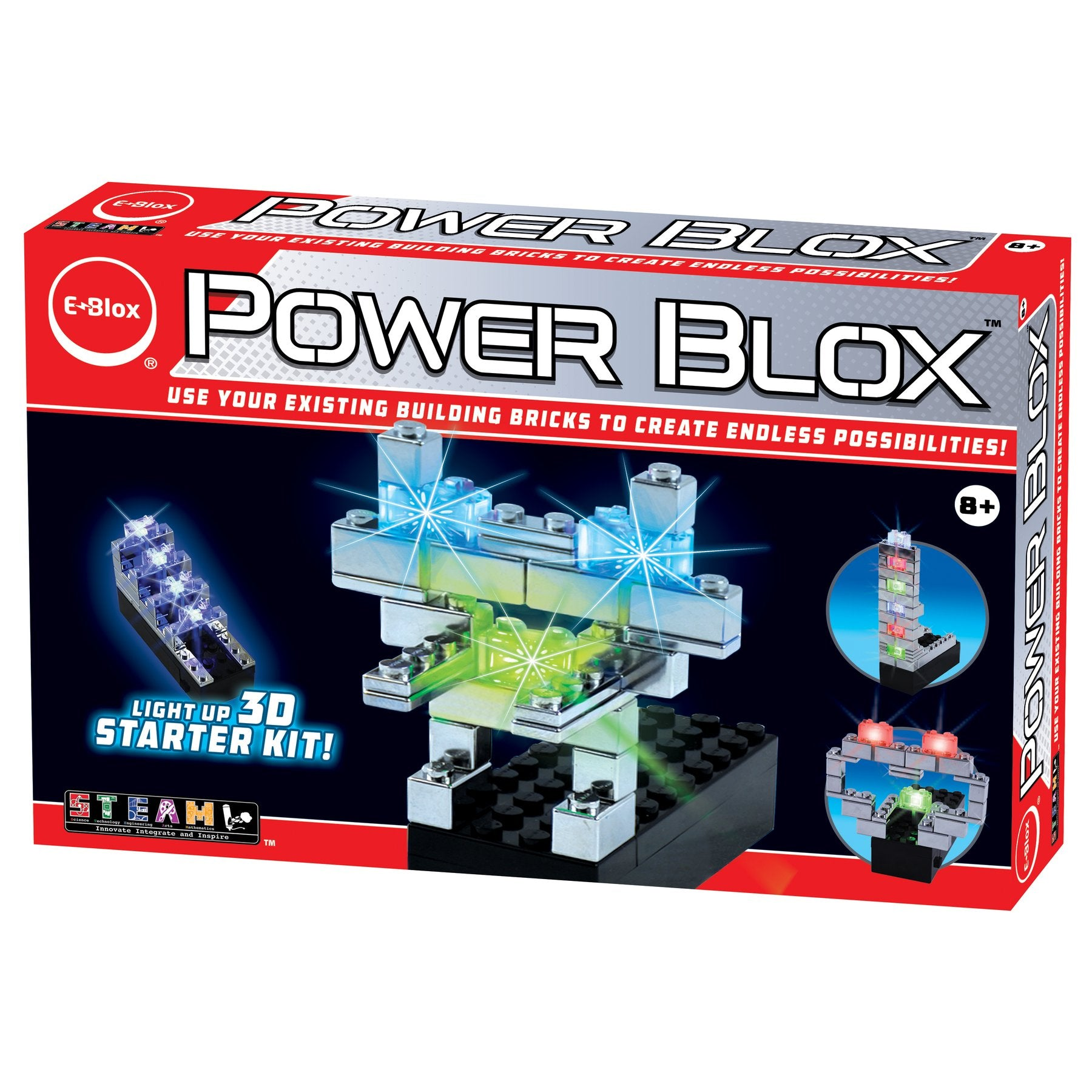 Power Blox Starter LED Building Blocks Set - E-Blox