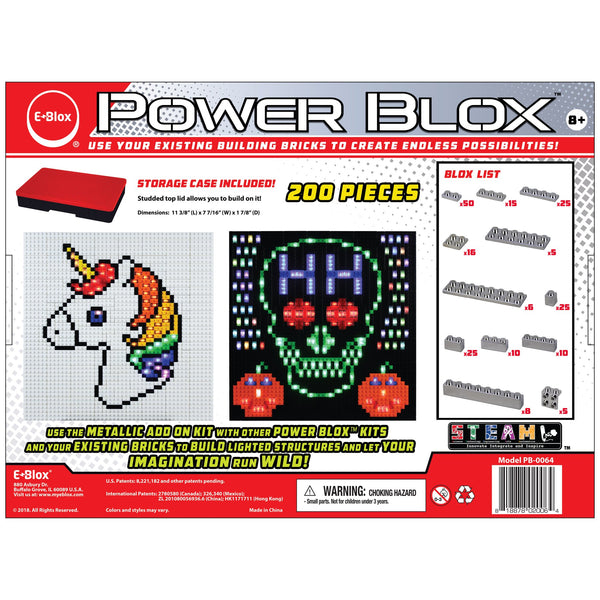 Power Blox Metallic ADD-ON Building Block Set - E-Blox