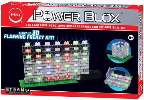 Power Blox Flashing Frenzy LED Light-Up Building Set - E-Blox