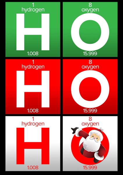 HO HO HO Element Unisex Holiday T-Shirt
