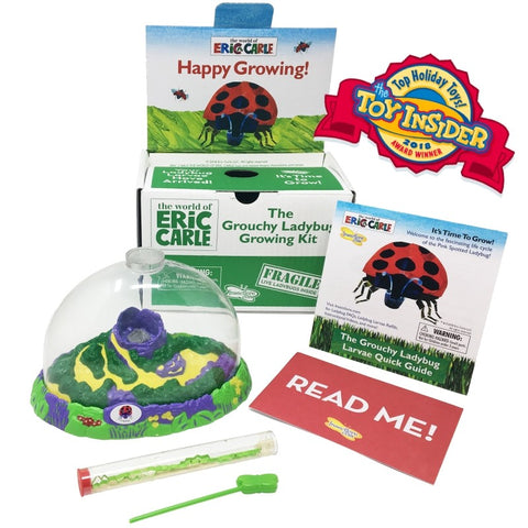 The Grouchy Ladybug Growing Kit with Live Larvae