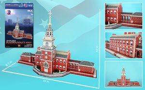 Independence Hall Philadelphia 3D Puzzle