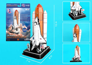 Space Shuttle on Launch Pad 3D Puzzle