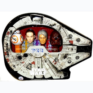 Millennium Falcon Pez Tin with BB8 and more