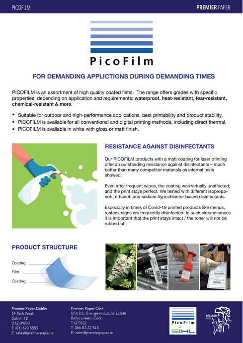 PicoFilm -   FOR DEMANDING APPLICATIONS DURING DEMANDING TIMES