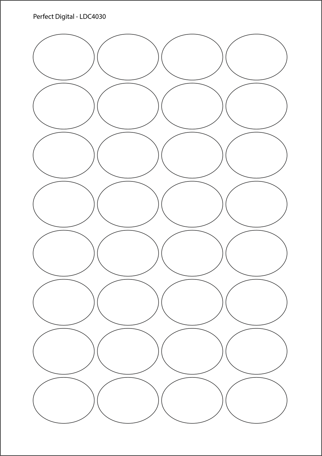 Oval A4 Die Cut Labels