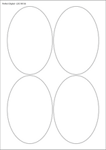 Load image into Gallery viewer, Oval A4 Die Cut Labels