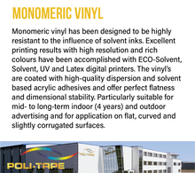 Load image into Gallery viewer, POLI-PRINT -  Monomeric Gloss Removable Vinyl