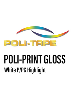 POLI-PRINT - Monomeric Gloss White Vinyl  Highlight