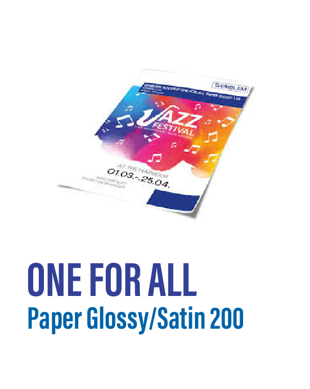 Emblem - One For All Paper Glossy/Satin 200