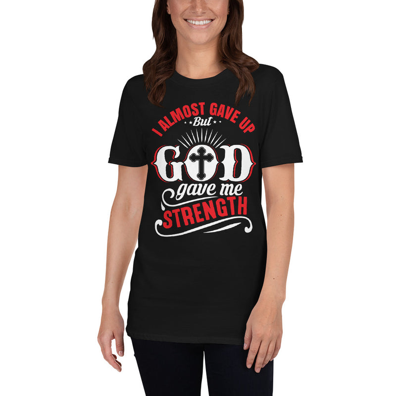 I Almost Gave Up But God... - ToriLorain Apparel Christian Women Apparel Religious Clothing