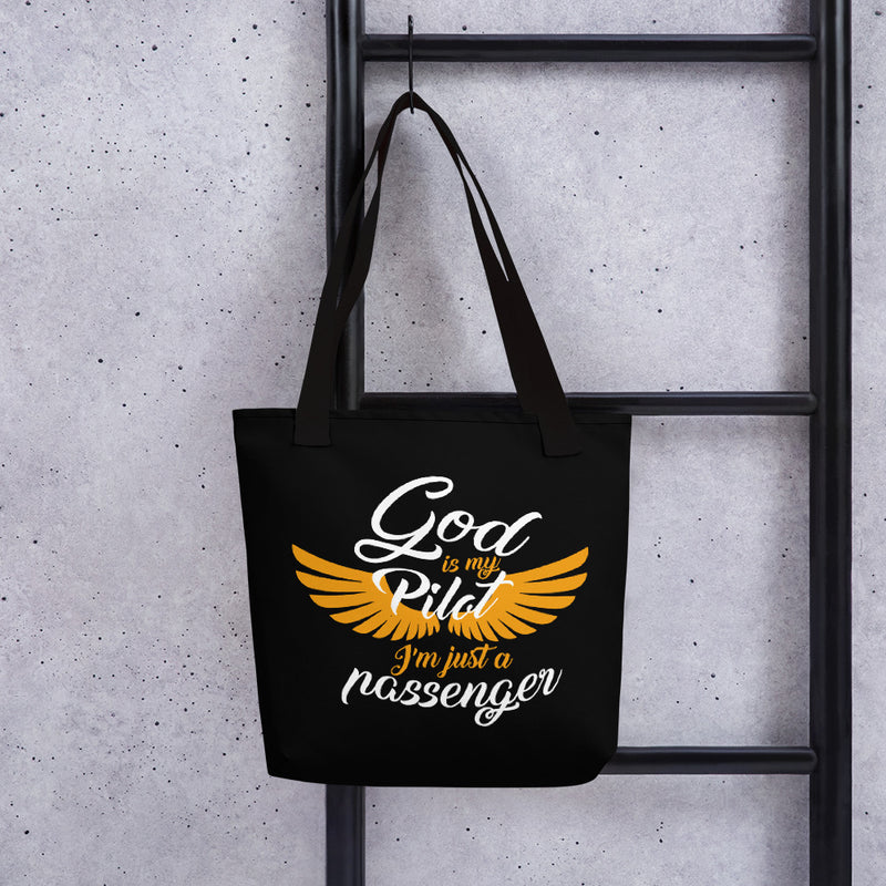 God is My Pilot... Tote bag - ToriLorain Apparel Christian Women Apparel Religious Clothing