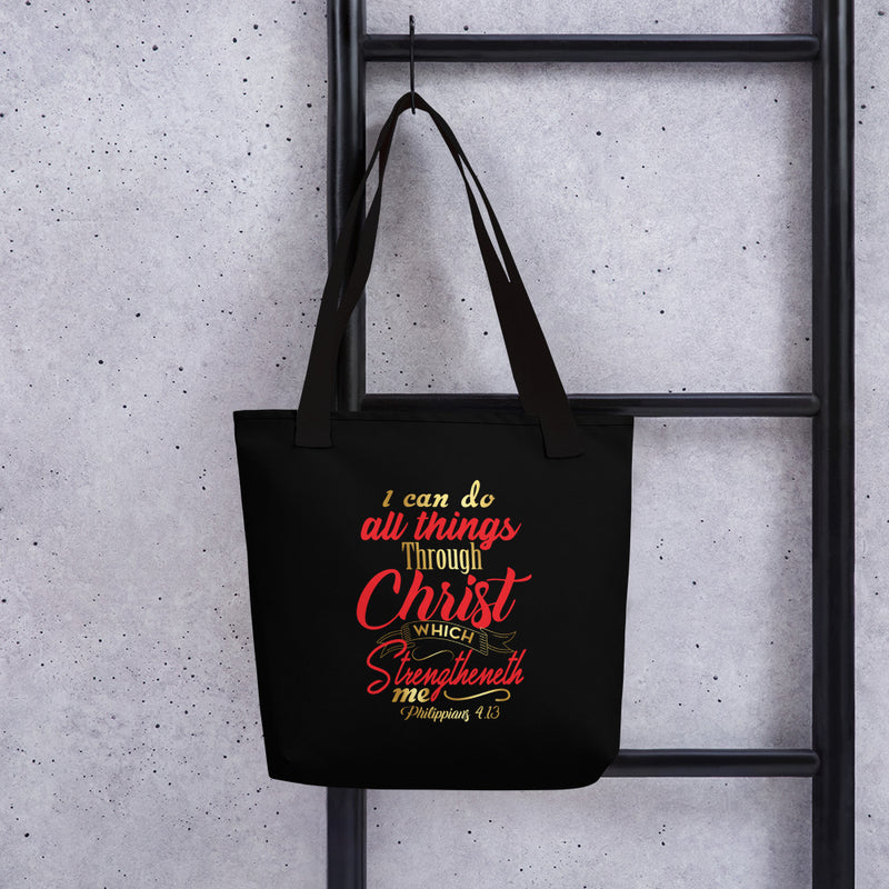 """I Can Do All Things Through Christ"" tote bag - ToriLorain Apparel Christian Women Apparel Religious Clothing"