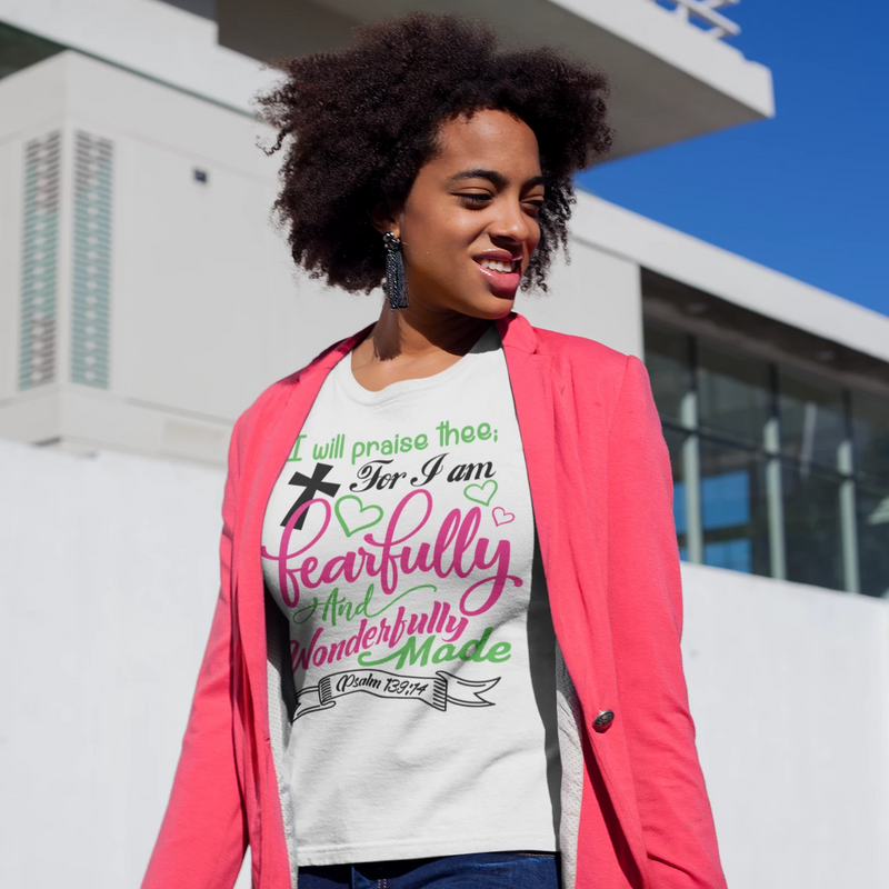 I Am Fearfully and Wonderfully Made - ToriLorain Apparel Christian Women Apparel Religious Clothing