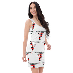 Halos&Vines* LoGo (Wht/Red/Blk) - Sublimation Cut & Sew Dress