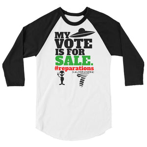 #reparations unisex 3/4 sleeve raglan shirt