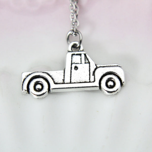 Best Christmas Gift, Silver Truck Charm, Car Necklace, Car Charm, Vehicle Charm, Personalized Gift, N214
