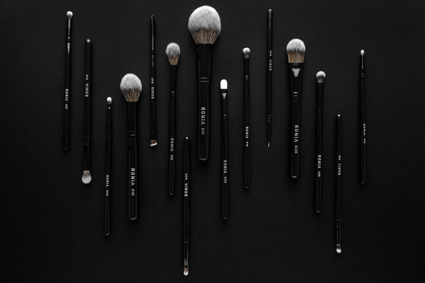 All Vegan collection, of 15 high-quality makeup brushes