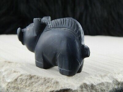 Hog Zuni Fetish Carving - Louise Ponchuella - High Lonesome Trading