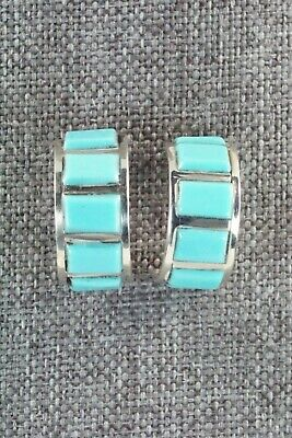 Turquoise & Sterling Silver Earrings - Lloyd Kanesta
