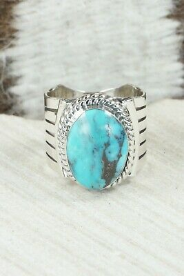 Turquoise and Sterling Silver Ring - Bucky Belin - Size 9.5