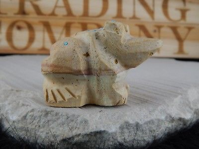 Frog Zuni Fetish Carving - Native American - High Lonesome Trading