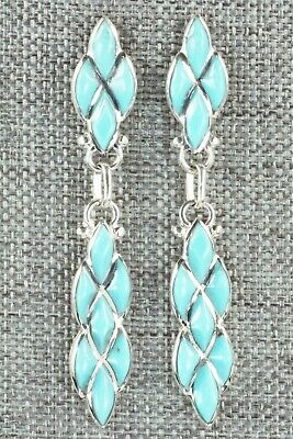 Turquoise & Sterling Silver Earrings - Derrick & Lorelia Chavez