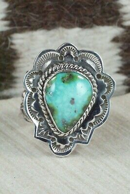 Turquoise and Sterling Silver Ring - Leonard Maloney - Size 10.5