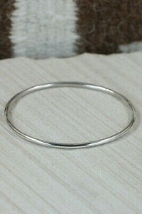 Navajo Sterling Silver Bangle - Elaine Tahe