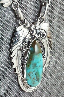 Navajo Turquoise and Sterling Silver Necklace - Davey Morgan