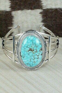 Turquoise & Sterling Silver Bracelet - Raymond Delgarito - High Lonesome Trading