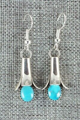 Turquoise & Sterling Silver Earrings - Doris Small Canyon