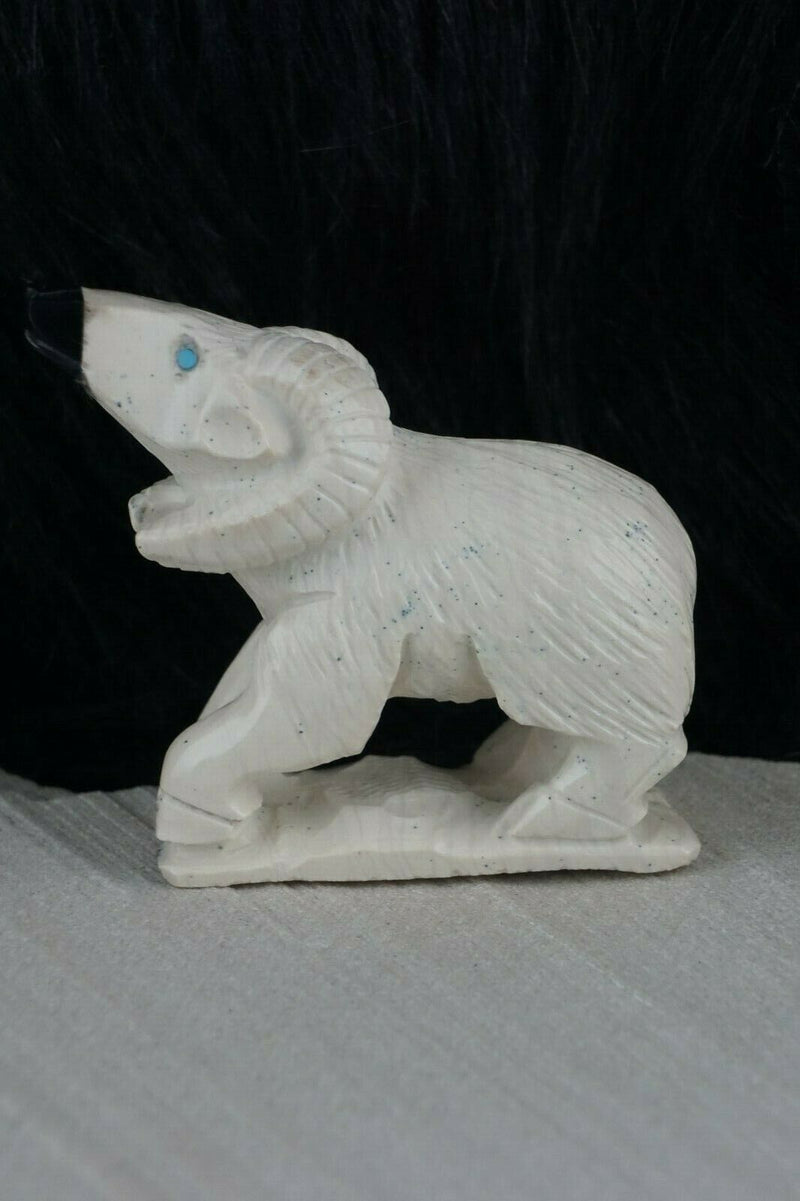 Ram Zuni Fetish Carving - Derrick Kaamasee - High Lonesome Trading