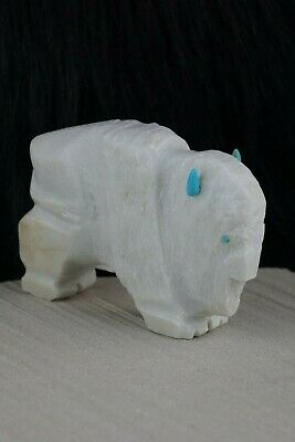 Buffalo Zuni Fetish Carving - Kevin Quam - High Lonesome Trading